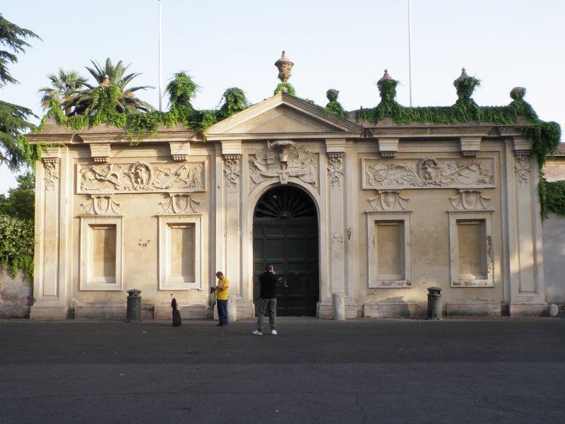 L\'entrée de la villa